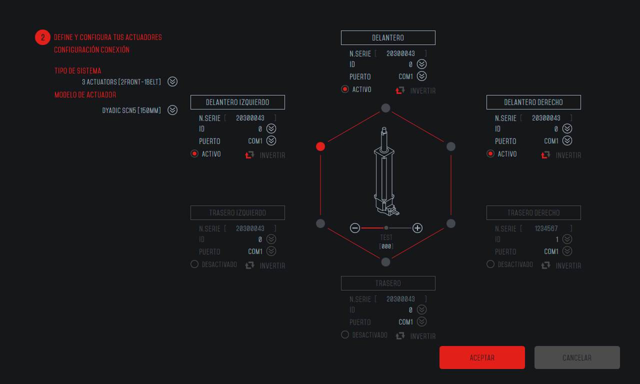 Lince 2.0 Motion Config