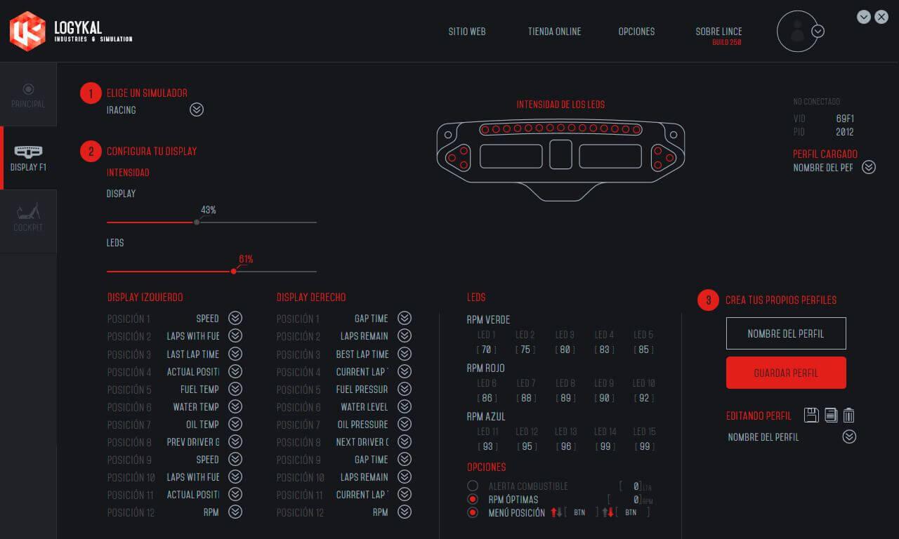 Lince 2.0 Displays
